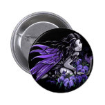 """""""Little Blue"""" Violet Lily Butterfly Fairy Button"""