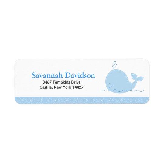 Little Blue Whale Custom Address Labels (30)