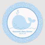 Little Blue Whale Favour Stickers 3-inch