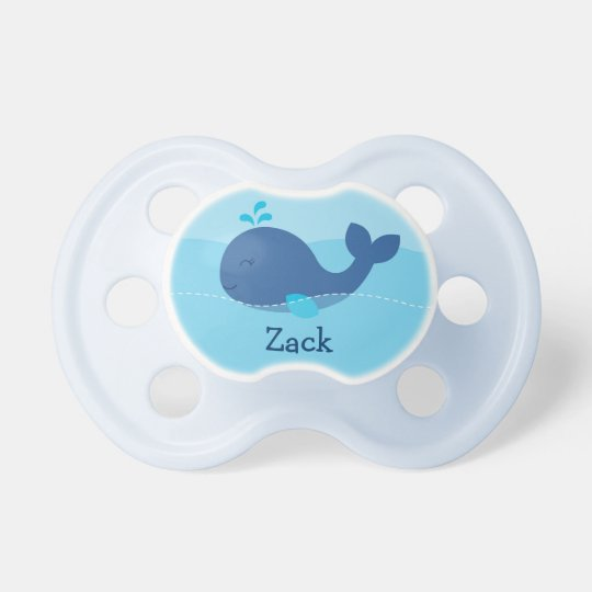 Little Blue Whale Personalised Pacifier