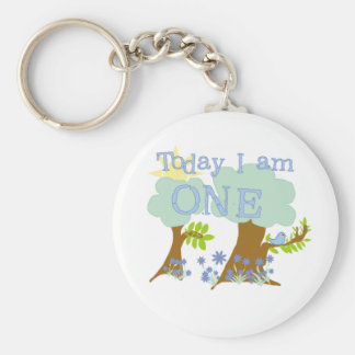 Little Bluebird 1st Birthday Tshirts and Gifts Basic Round Button Key Ring