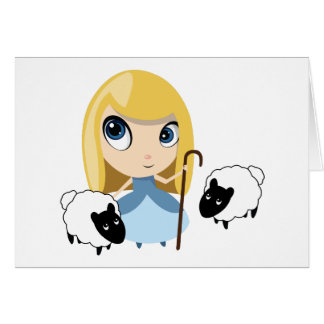 Little Bo Peep and her Sheep Greeting Card