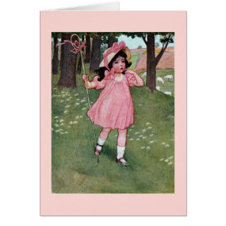Little Bo-Peep and Missing Sheep Nursery Rhyme Card