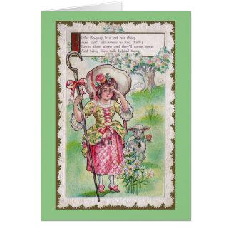 Little Bo-Peep and One Sheep Greeting Card