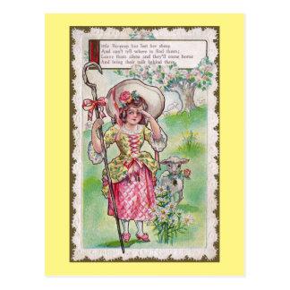 Little Bo-Peep and One Sheep Postcard