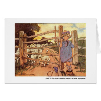 Little Bo-Peep Nursery Rhyme - Card