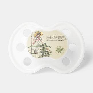 Little Bo Peep Vintage Nursery Rhyme Baby Pacifiers