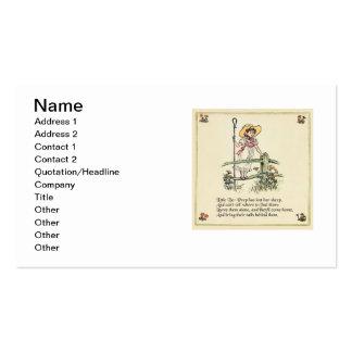 Little Bo Peep Vintage Nursery Rhyme Pack Of Standard Business Cards
