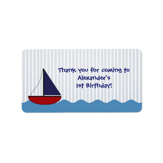 Little Boat Birthday Favour Label