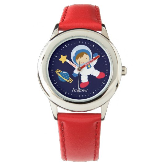 Little Boy Astronaut Personalised Watch