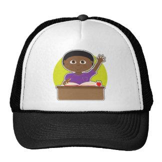 Little Boy at School Black Cap