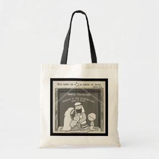 Little Boy at the Manger-Merry Christmas Tote Bag