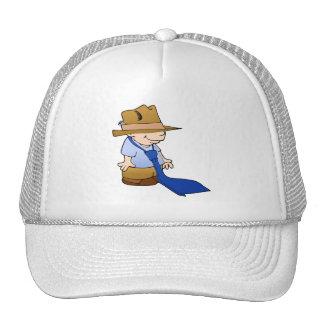 Little boy big tie & hat