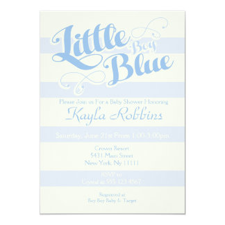 Little Boy Blue Baby Shower Invitations