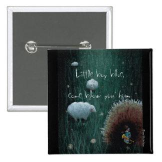 Little Boy Blue - custom printed button 2x2 Buttons