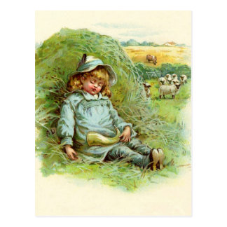 Little Boy Blue Nursery Rhyme Postcard
