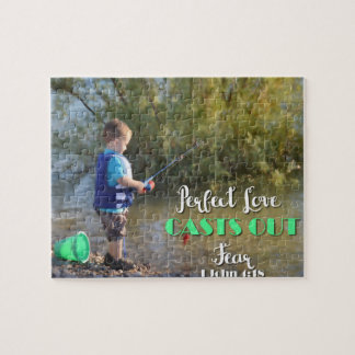 Little Boy Fishing Casting Out Fear Puzzle