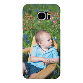 Little boy in a chair in a field of Bluebonnets. Samsung Galaxy S6 Cases