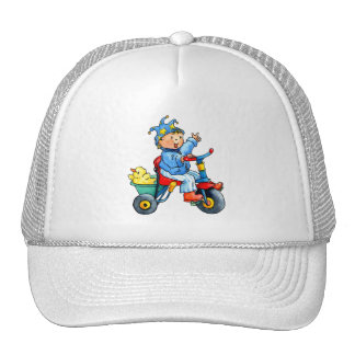 Little Boy on his Trike Hat