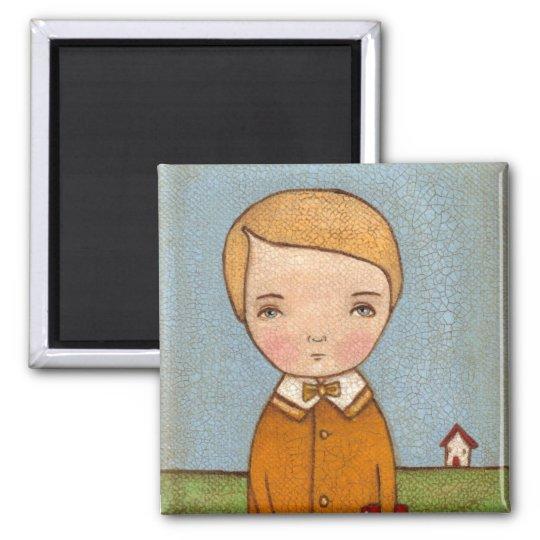 Little Boy Square Magnet