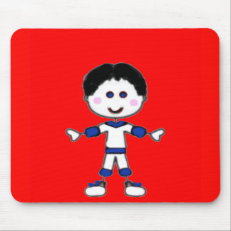 Little Boy Stick Family Collection Mouse Mat