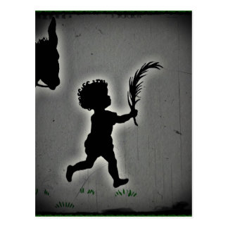 Little Boy with a Palm Frond Postcard