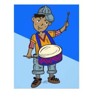 Little Boy With Drums 21.5 Cm X 28 Cm Flyer