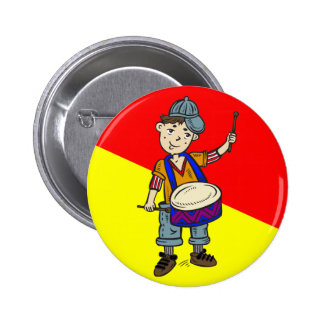 Little Boy With Drums 6 Cm Round Badge