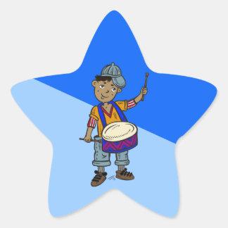 Little Boy With Drums Sticker