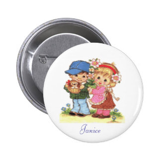 Little Boy With Girl Button