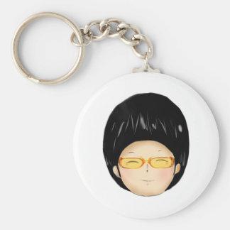 Little boy with sunglass keychains