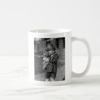 Little Boy with Teddy Bear: 1923 Coffee Mugs