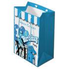 Little Boy's 1st Blue Elephant Birthday Medium Gift Bag