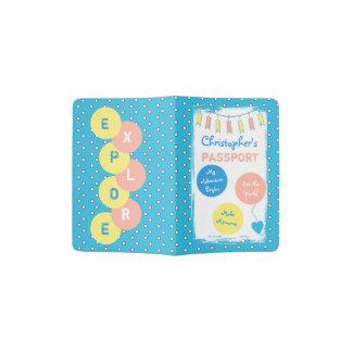 Little Boy's blue polka dots Passport Holder