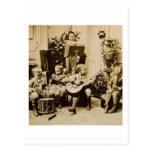Little Boys Orchestra - Vintage Stereoview Postcard