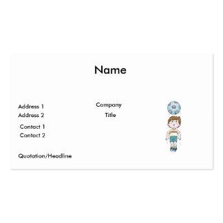 little boys soccer head bunt business card template