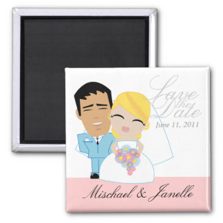 little BRIDE & GROOM save the date keepsake 16 Magnet
