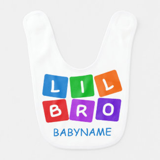 Little Bro custom baby bib