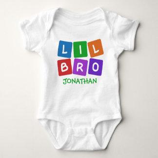 Little Bro CUSTOM NAME clothing Baby Bodysuit