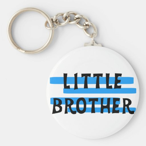 Little Brother Blue Stripes Tshirts and Gifts Keychain