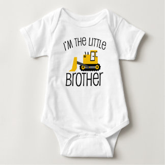 Little Brother Construction Front Loader Baby Bodysuit