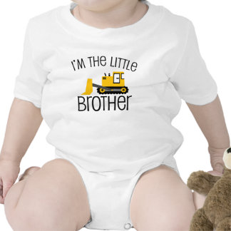 Little Brother Construction Front Loader Baby Bodysuits
