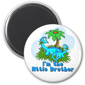 Little Brother Dinosaurs 6 Cm Round Magnet