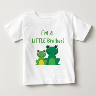 Little Brother Frog Sibling T (Green/Green) Baby T-Shirt