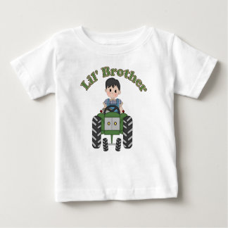 Little Brother Green Tractor Baby T-Shirt