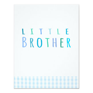 Little Brother in blue Card