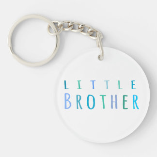 Little Brother in blue Single-Sided Round Acrylic Key Ring