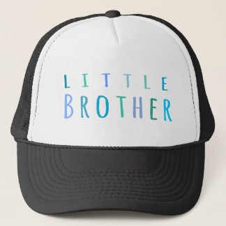 Little Brother in blue Trucker Hat