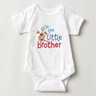little brother Monkey Baby Bodysuit