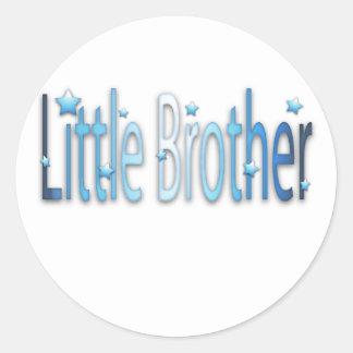 little.brother round sticker